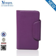 Veaqee smart phone wallet leather case for huawei ascend g7
