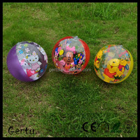 full printed inflatable beach ball set