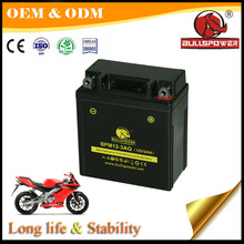 12v 3ah MF sealed motorcycle battery with best price