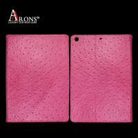 Book design genuine ostrich leather tablet case for ipad air 2