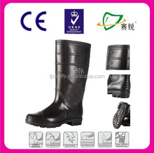 anti Oil PVC mining safety boots with steel toe