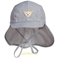 striped kids infant toddler baby bucket sun hats with neck cover