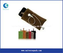 velvet cell phone pouches velvet drawstring pouch/bag