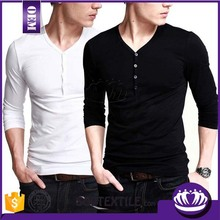 First Choice Good Quality High Fashion Henley T Shirt OEM Manufacture Design from VietNam
