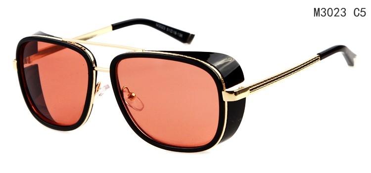 철 남자 선글라스 가장 인기있는 모델 도매 아름다운 영화 로버트 다우니 주니어 남여 안경 금속 선글라스