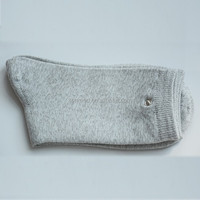 Silver fiber electrotherapy conductive socks for meridian therapeutic apparatus