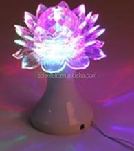 New Product Full Color LED Lotus Flower Light 6W Rotating LED Stage Light