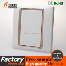 3 round feet eletrical wall lights socket with 1 gang switch