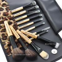 Beauties Factory 12pcs African Leopard Makeup Cosmetic Brushes Set