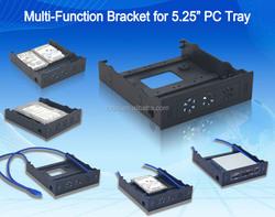 Multi-function 5.25''drive bay with 2*USB3.0 HUB/HDD/SSD bracket