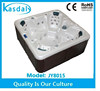 guangzhou 7 seating plastic wood skirt square sex massage hot tub