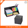 Desktop Foldable memo Box with sticky notes ,memo pad holder,sticky notes box