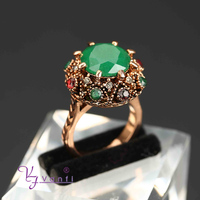 alloy fake gold ring 18k green stone latest gold ring desighs for girl gold wedding ring