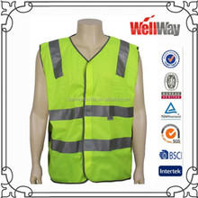 2015 men workwear sleeveless jacket vest for summer with reflective tape