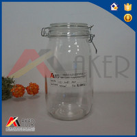 1.5L round airtight waterproof lids glass honey container