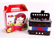 Kids play emulational educational toy musical instrument accordion organ