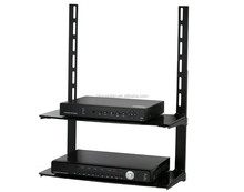 low Profile Flat Panel TV Mount and Glass Entertainment Center Combo CS101-1