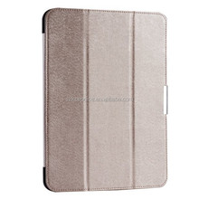 10 inch three fold pu leather tablet cover case with magnetic