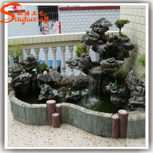 Artificial stone big rock outdoor garden fountain graphic waterfall made in china for sale view - How to build an outdoor fountain with rocks ...