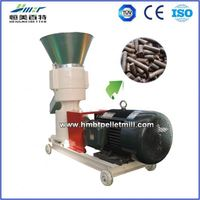 22 kw economical home use rice husk pellet mill flat die