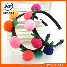 Latest fancy girls fashion pom pom girls hair balls