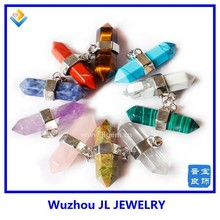Wholesale jewelry gemstone reiki chakra point healing pendulum pendant