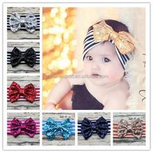 JPHAIR1504201 Newborn baby girl sequins bow headband accessories 2015
