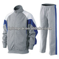 65% cotton and 35% polyester men winter tracksuit