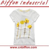 2015 New design children frocks designs/girls flower print tank top BF074