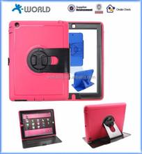 New design high quality 360 Rotation anti-crash tablet case for ipad mini, PU case TPU case