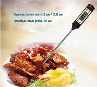 small digital thermometer bbq lcd portable digital cooking thermometer with temperature probe stainless steel food thermometer