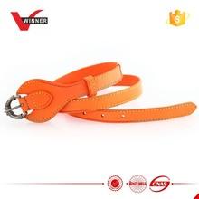 Women fashion cow hide genuine leather belt