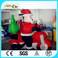 CILE 2015 hot selling inflatable Santa Claus of Ride a motorcycle model