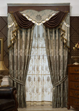 Polyester embroidered finished curtain