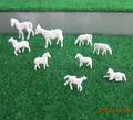 1:87~1:150 mini de plástico modelo de caballo para la escala modelo/el modelo de arquitectura de diseño/el diseño del paisaje