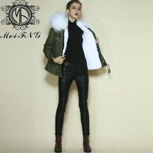 Pieles de imitación con abrigo con capucha para las mujeres con precio de fábrica del ejército dm001-01 parka