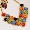 latest fashion statement necklace designs,resin necklace and earring sets in skysweet(PR053)