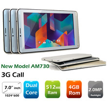 New arrival Cheap 7inch TFT 512MB Ram 4GB Rom android 4.4 Dual core 3G Dual Sim mobile
