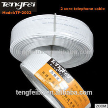 Supply good price in shenzhen port Copper Conductor 2 Wire Telephone Cable,telephone wire