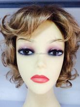 wholesale blonde color Kanekalon synthetic hand made hair wig