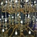 2015 Magnífico candelabro LED de cristal para mesa, lámpara para colgar