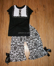 Easter 100% Organic cotton blank black baby clothes children remake persnickety girls outfits