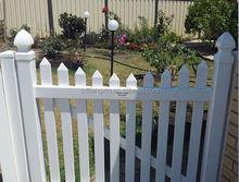 2015 hot sale plastic PVC flower outdoor picket fences