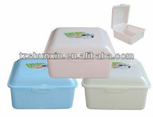 plastic meal box rectangle take away lunch box