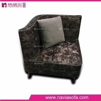 2015 Buy latest luxury fabric modern designs of single seater sofa for bedroom