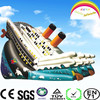 CILE Huge Cannon Inflatable Castle Slide with Three Lanes For Summer Sports