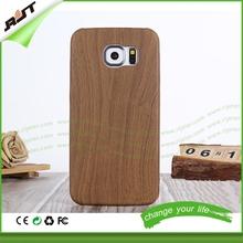 cusomer logo ultra thin soft wood grain real wood phone case for samsung galaxy s6