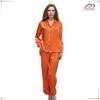 custom logo silk satin digital printing sleeping suit