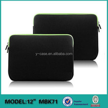 Neoprene laptop sleeve for Macbook 12' A1534 ,neoprene laptop bag for Macbook,laptop computer bag for Macbook air