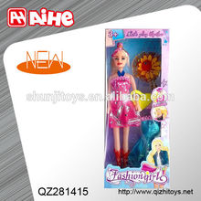 2014 plastic chinese doll toys girl doll